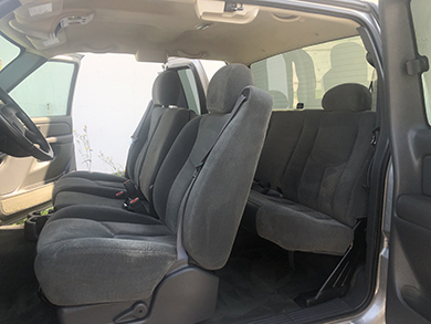 Vehicle with a full interior cleaning.