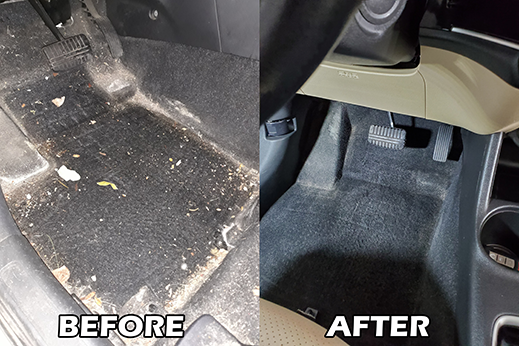 Auto detail special service salt stain removal